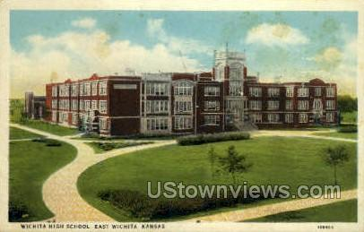 High School - Wichita, Kansas KS Postcard