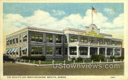 Live Stock Exchange - Wichita, Kansas KS Postcard