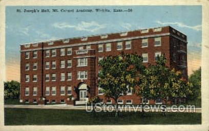 St Joseph's Hall - Wichita, Kansas KS Postcard