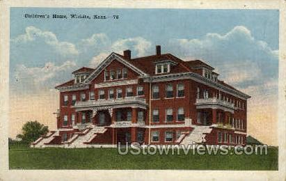 Children's Home - Wichita, Kansas KS Postcard