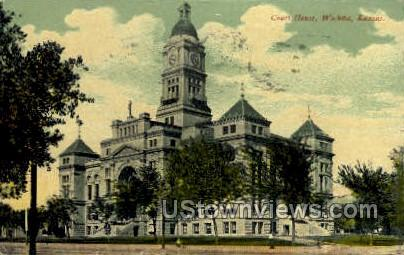 Court House - Wichita, Kansas KS Postcard