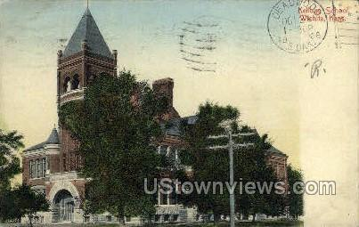 Kellogg School - Wichita, Kansas KS Postcard