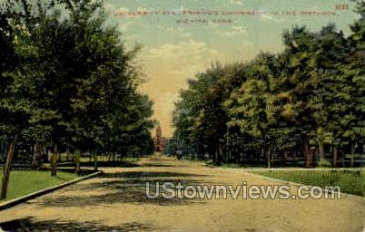 University Ave - Wichita, Kansas KS Postcard