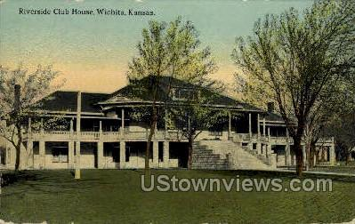 Riverside Club House - Wichita, Kansas KS Postcard