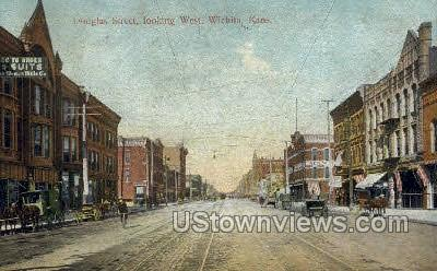 Douglas Street - Wichita, Kansas KS Postcard