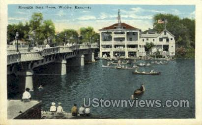 Riverside Boat House - Wichita, Kansas KS Postcard