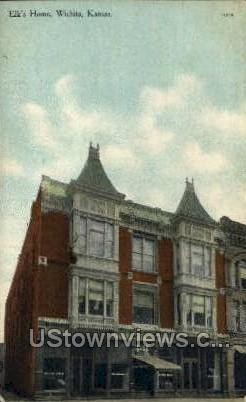 Elk's Home - Wichita, Kansas KS Postcard