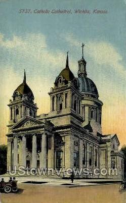 Catholic Cathedral - Wichita, Kansas KS Postcard