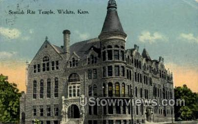 Scottish Rite Temple - Wichita, Kansas KS Postcard