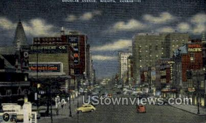 Douglas Ave - Wichita, Kansas KS Postcard