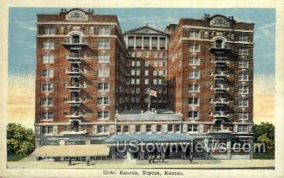 Hotel Kansan - Topeka, Kansas KS Postcard