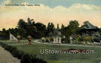 Gage Park - Topeka, Kansas KS Postcard