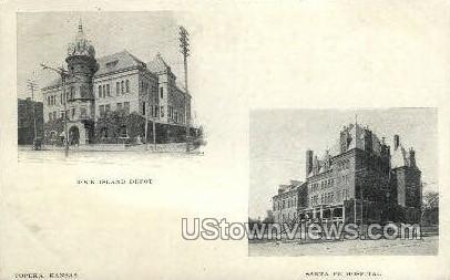 Rock Island Depot - Topeka, Kansas KS Postcard