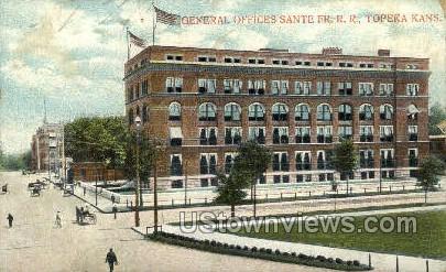 Santa Fe FR. R.R. - Topeka, Kansas KS Postcard