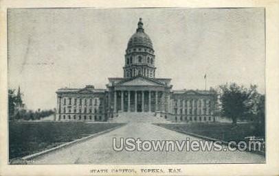 State Capitol - Topeka, Kansas KS Postcard