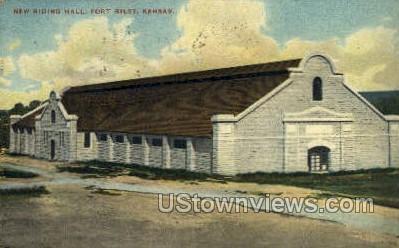 New Riding Hall - Fort Riley, Kansas KS Postcard