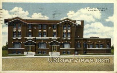 YMCA Building - Emporia, Kansas KS Postcard