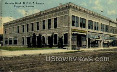 Gazette Block - Emporia, Kansas KS Postcard