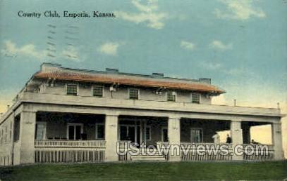 Country Club - Emporia, Kansas KS Postcard