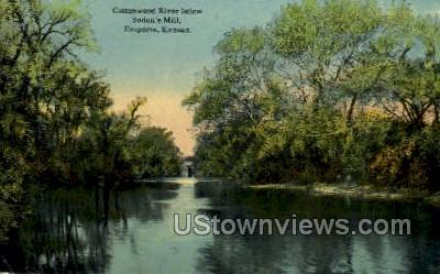 Cottonwood River - Emporia, Kansas KS Postcard