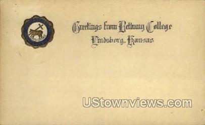 Bethany College - Lindsborg, Kansas KS Postcard