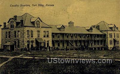 Cavalry Quarters - Fort Riley, Kansas KS Postcard