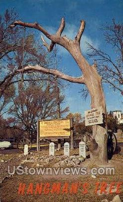 Hangman's Tree - Dodge City, Kansas KS Postcard