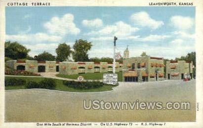 Cottage TerrAce - Leavenworth, Kansas KS Postcard