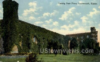 Lansing State Prison - Leavenworth, Kansas KS Postcard