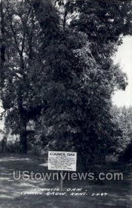 Council Oak - Council Grove, Kansas KS Postcard