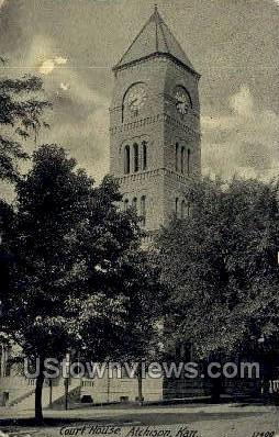 Court House - Atchison, Kansas KS Postcard