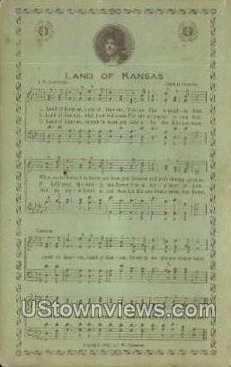 Land of Kansas - Misc Postcard