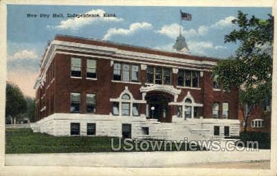 New City Hall - Independence, Kansas KS Postcard