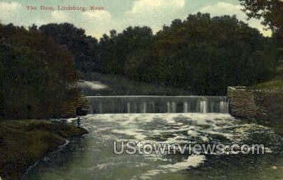 The Dam - Lindsborg, Kansas KS Postcard