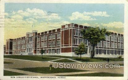 New Junior High School - Independence, Kansas KS Postcard