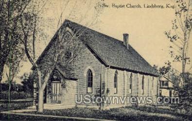 Sw Baptist Church - Lindsborg, Kansas KS Postcard