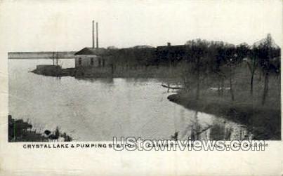 Crystal Lake - Garnett, Kansas KS Postcard