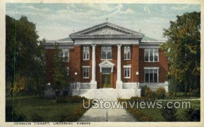 Carnegie Library - Lindsborg, Kansas KS Postcard