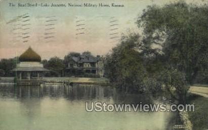Band Stand - National Military Home, Kansas KS Postcard