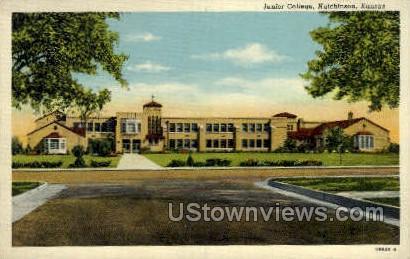 Junior High School - Hutchinson, Kansas KS Postcard