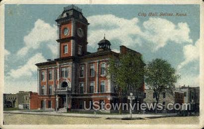 City Hall - Salina, Kansas KS Postcard