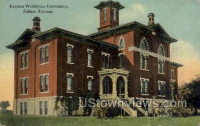 Wesleyan University - Salina, Kansas KS Postcard