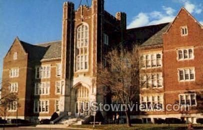 Kenyon Hall - Emporia, Kansas KS Postcard