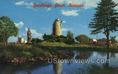Old Mill - Wamego, Kansas KS Postcard