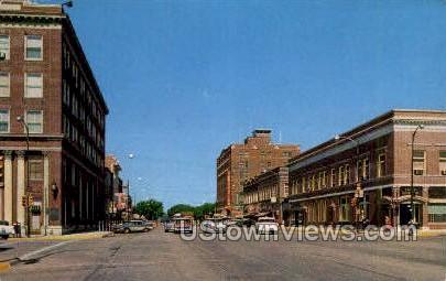 Commercial Streets - Emporia, Kansas KS Postcard