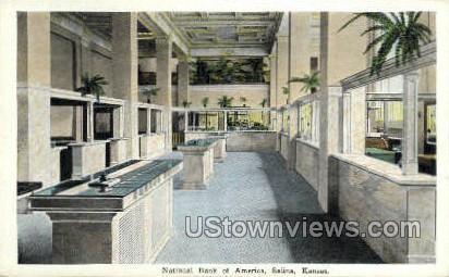 National Bank of America - Salina, Kansas KS Postcard