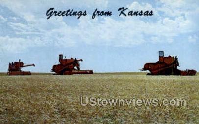 Ellis County, Kansas, KS Postcard