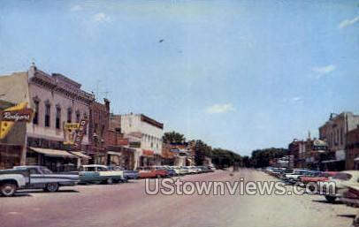 Broadway Street - Sterling, Kansas KS Postcard