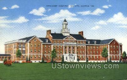 Veteran's Hospital - Wichita, Kansas KS Postcard