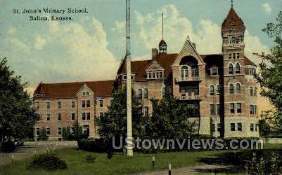 St John's Military School - Salina, Kansas KS Postcard